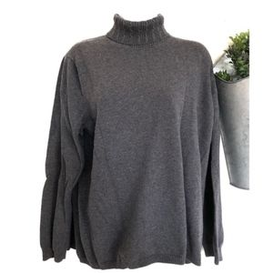 Talbots | Women's Plus Grey Cable Knit Turtleneck